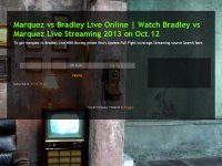 Marquez vs Bradley Live Online | Watch Bradley vs Marquez Live Streaming 2013 on Oct.12