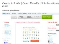 Exams in India | Exam Results | Scholarships in India