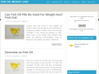 fish oil weight loss