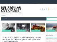 Watch NFL Regular season 2013 Live online Game Tv