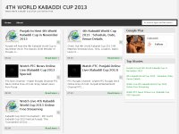 Watch Live 4th Kabaddi World Cup 2013 Online