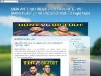 MMA ANTONIO SILVA VS. MARK HUNT LIVE STREAM UFC Fight Night 33 PPV