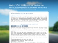 Watch UFC 168 Live stream online ppv