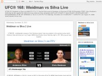 UFC 168: 'Weidman vs Silva 2' live stream fight