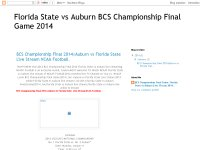 BCS Championship Final 2014|Auburn vs Florida State Live Stream NCAA Football.