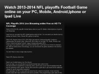 Watch 2013-2014 NFL playoffs Football Game online