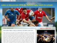 LIVE RUGBY Wales vs Italy Live Stream ||| Six Nati