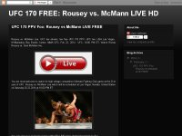 Watch UFC 170 : Rousey vs McMann Live Stream MMA