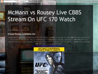 McMann vs Rousey Live CBBS Stream On UFC 170 Watch