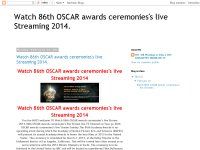 Watch 86th OSCAR awards ceremonies's live Streaming 2014.