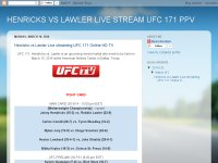 HENRICKS VS LAWLER LIVE STREAM UFC 171 PPV