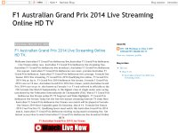 F1 Australian Grand Prix 2014 Live Streaming Online HD TV.