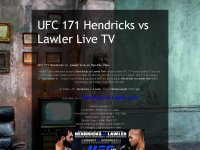 UFC 171 Hendricks vs Lawler Live TV: UFC 171 Hend