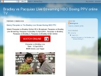 Bradley vs Pacquiao Live Streaming HBO Boxing PPV online TV