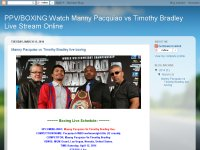 Manny Pacquiao vs Timothy Bradley live boxing