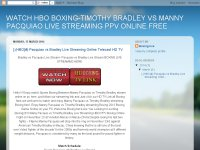 WATCH HBO BOXING-TIMOTHY BRADLEY VS MANNY PACQUIAO LIVE STREAMING PPV ONLINE FREE
