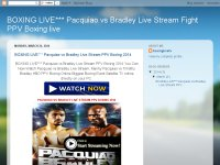 BOXING LIVE*** Pacquiao vs Bradley Live Stream Fig