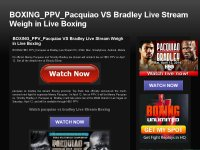 BOXING_PPV_Pacquiao VS Bradley Live Stream Weigh