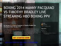 BOXING 2014 MANNY PACQUIAO VS TIMOTHY BRADLEY LIVE STREAMING HBO BOXING PPV
