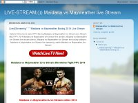 LIVE-STREAM)))) Maidana vs Mayweather live Stream