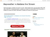 Mayweather vs Maidana live Stream
