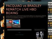 PACQUIAO vs BRADLEY REMATCH LIVE HBO BOXING