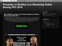Pacquiao vs Bradley Live Streaming Online Boxing P