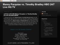 wATCH LIVE HBO:Manny Pacquiao vs Timothy Bradley l