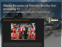 Manny Pacquiao vs Timothy Bradley live streaming T