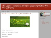 The Master Tournament 2014 Live Streaming Watch PG
