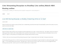 Live Streaming,Pacquiao vs Bradley Live online,Wat
