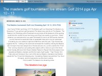 The Masters tournament Golf Live Streaming 10-13