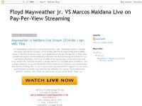 Floyd Mayweather jr. VS Marcos Maidana Live on Pay-Per-View Streaming