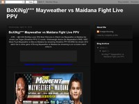 BoXiNg)*** Mayweather vs Maidana Fight Live PPV