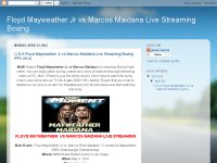 Floyd Mayweather Jr vs Marcos Maidana Live Streami