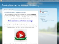 Preview'Marquez vs Alvarado Live boxing
