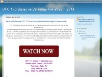 Barao vs Dillashaw UFC 173 live stream World Banta