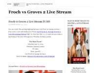 FROCH VS GROVES 2 LIVE STREAM