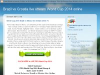 Brazil vs Croatia Live Stream online World Cup 201