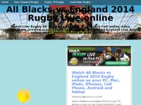 All Blacks vs England 2014 Rugby Live online