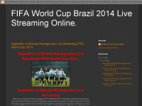 FIFA World Cup Brazil 2014 Live Streaming Online.