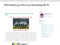 FIFA World cup 2014 Live Streaming HD TV.