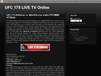 UFC 175 Weidman vs. Machida live pc tv online
