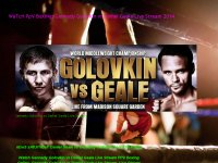 WaTcH PpV BoXiNg: Gennady Golovkin vs Daniel Geale