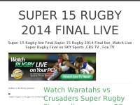Super 15 Rugby 2014 Final live online free