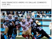 San Francisco 49ers vs Dallas Cowboys Live NFL