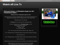 Pittsburgh Steelers vs Philadelphia Eagles live on