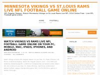 Minnesota Vikings vs St.Louis Rams Live NFL Football Game Online