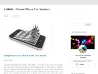 Best Cell Phone Plans for Seniors 2014