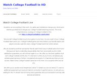 Watch College Football Live in HD